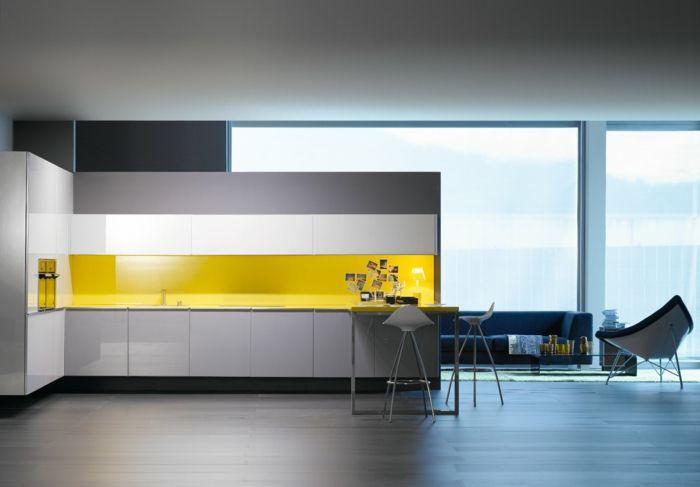 glasr ckwand k che gelbe k chenr ckwand kitchen ideas. Black Bedroom Furniture Sets. Home Design Ideas