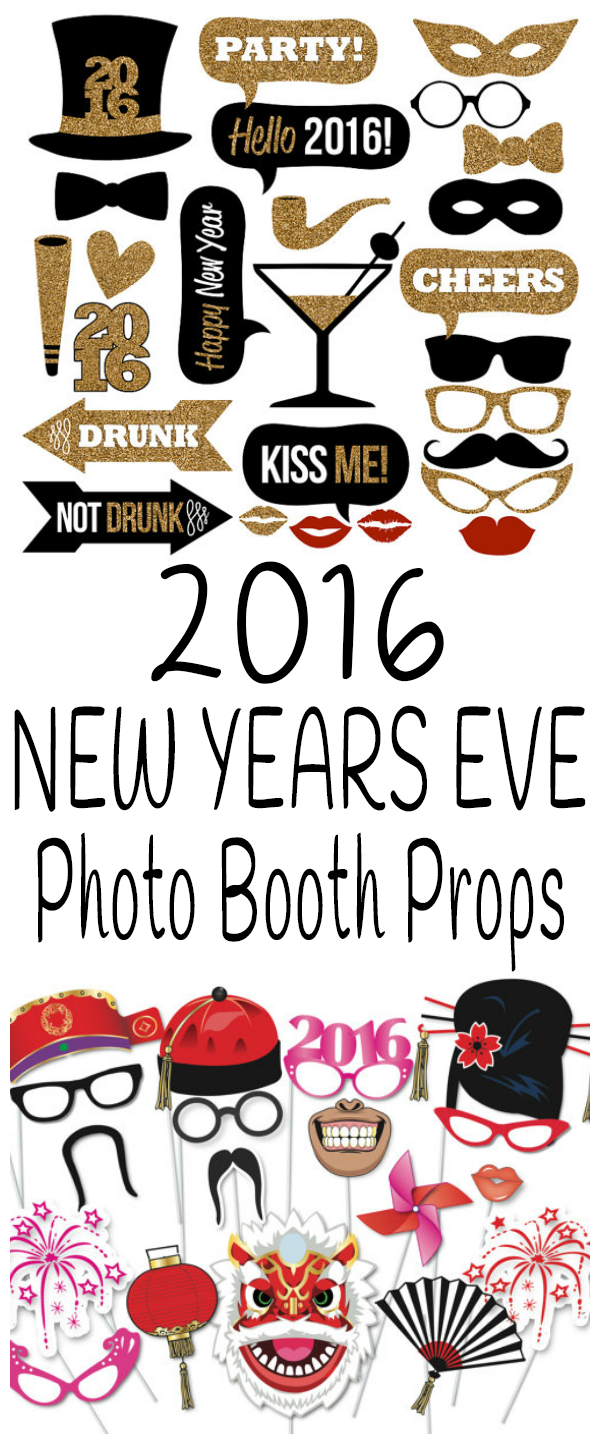Years new booth eve photo props