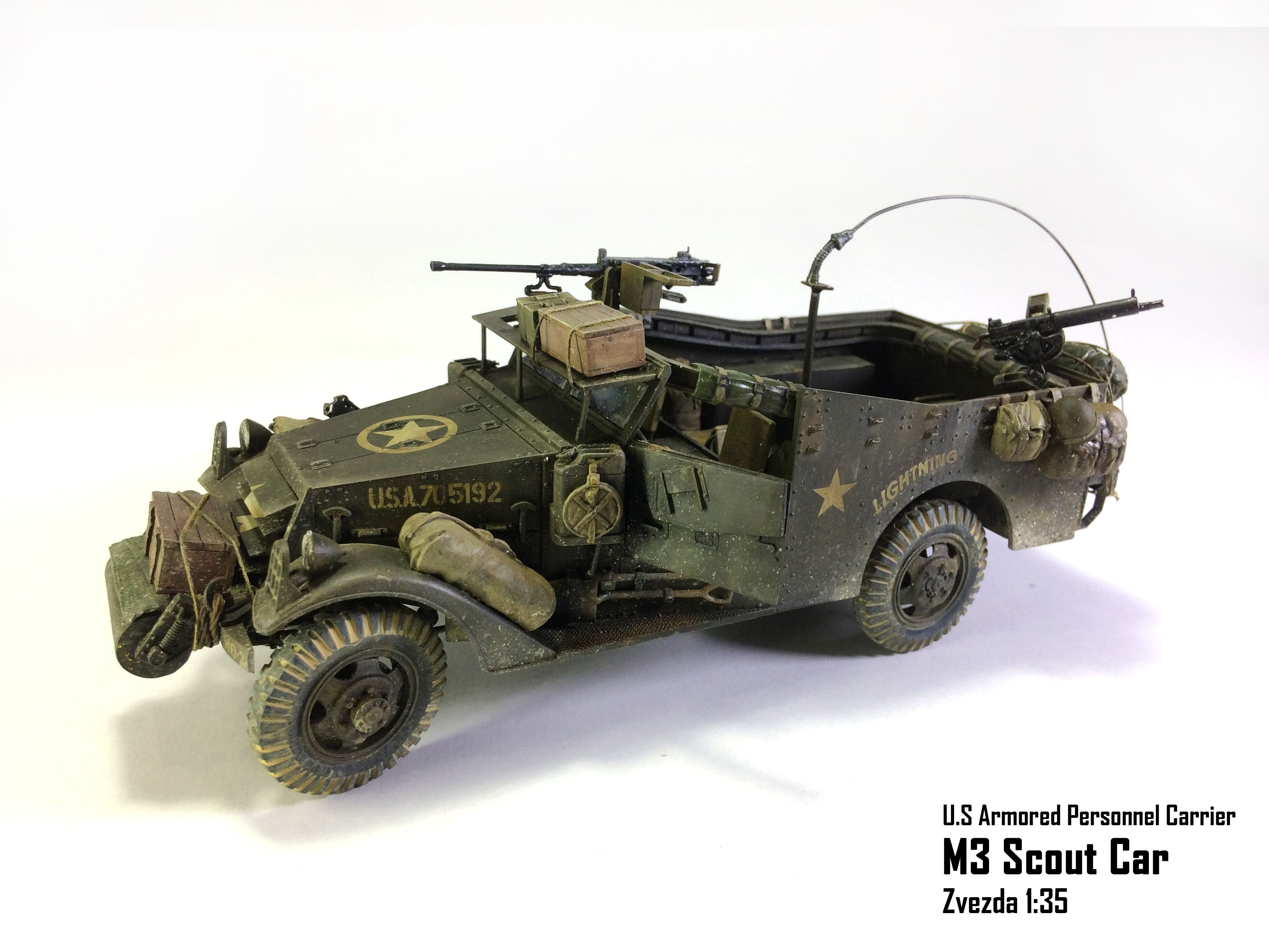 U.S Armored Personnel Carrier M3 Scout Car Zvezda 135