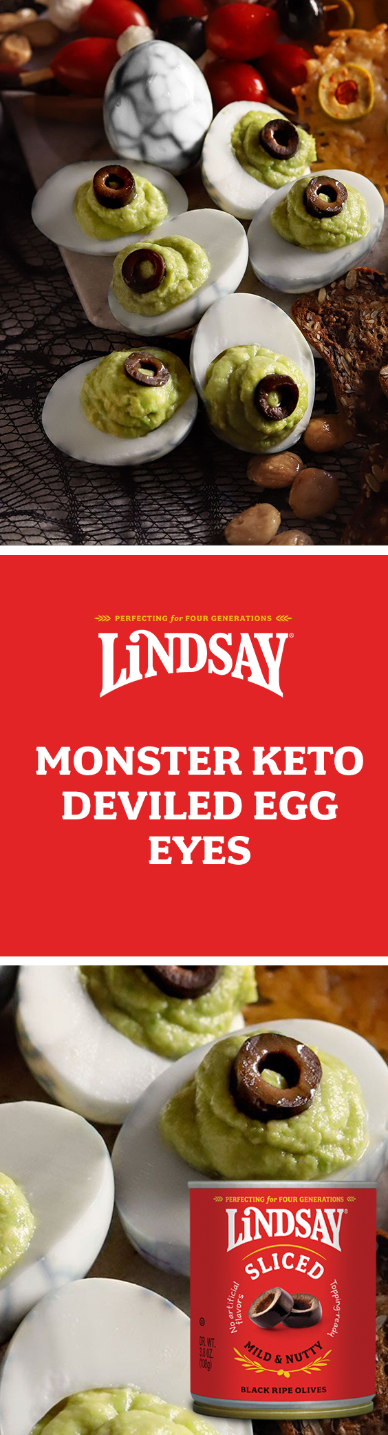 Monster Keto Deviled Eggs #fallpartyfood