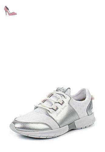 Emporio Armani , Baskets pour homme Blanc Bianco/Blu - Blanc - Bianco, 39 EU