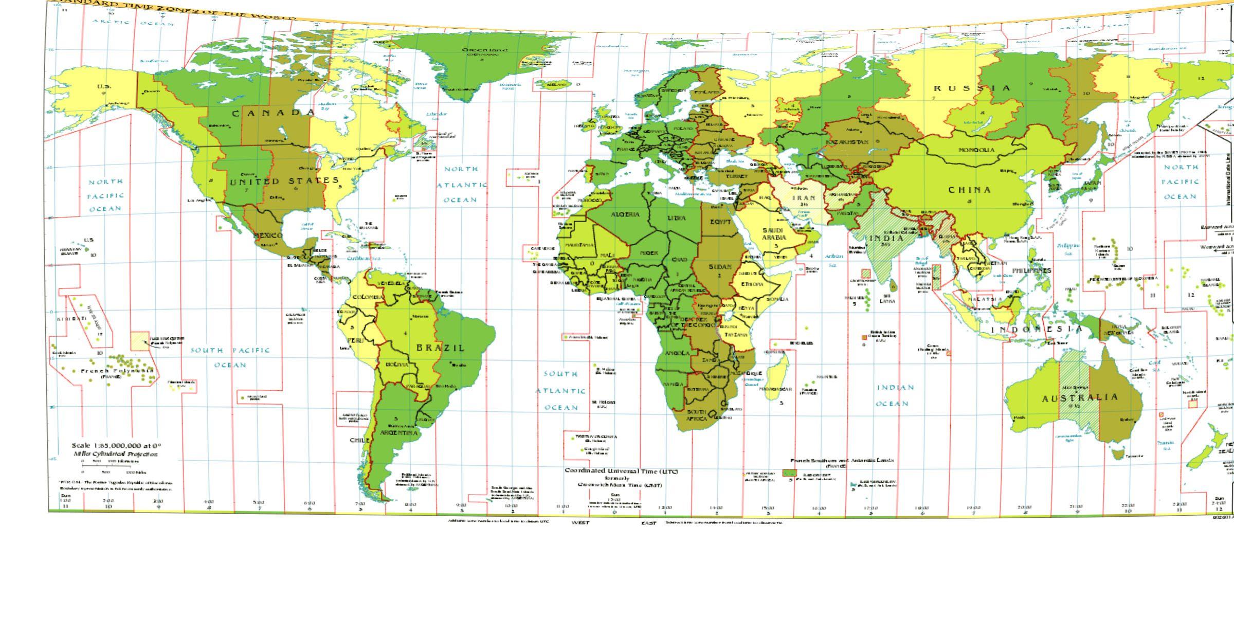 Maps World Map Longitude Latitude And