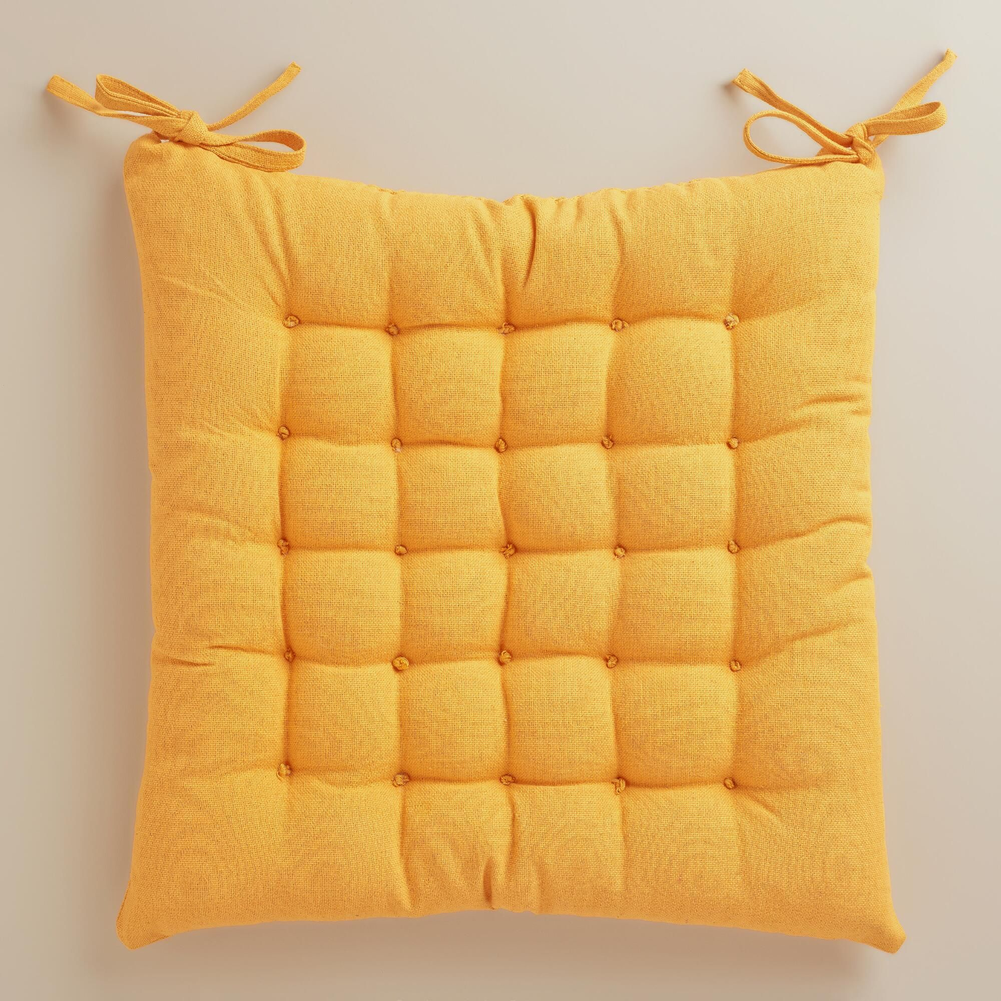$1274 Golden Yellow Dasutti Chair Cushion - World Market