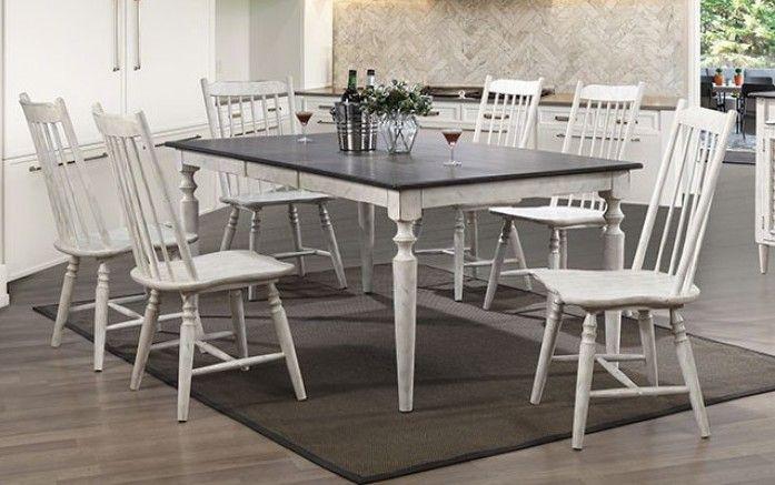 Awesome Cm3754T 7Pc 7 Pc Ann Lee Ii Antique White Antique Oak Finish Beatyapartments Chair Design Images Beatyapartmentscom