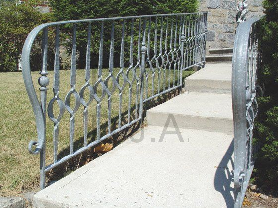 Wrought Iron Railing Has Been Hot Dipped Galvanized To Prevent