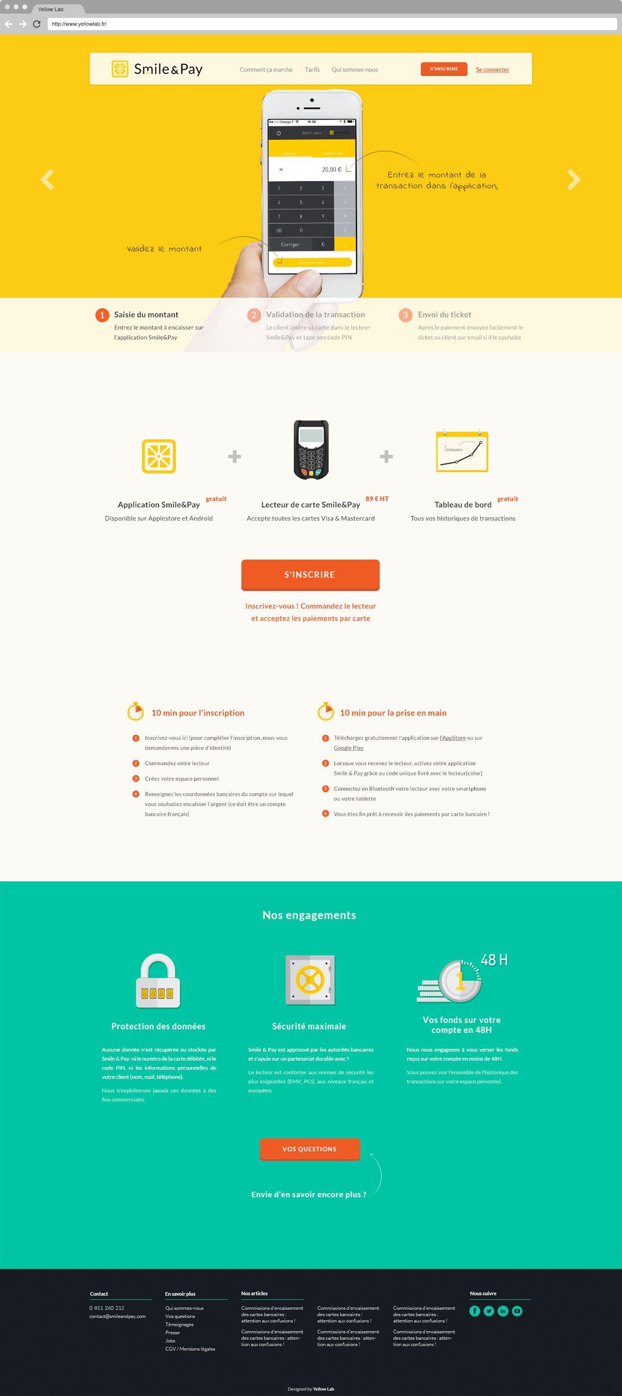 Smile Pay Solution De Paiement Pour Tous Yellowlab Identite De Marque Web Design Solution
