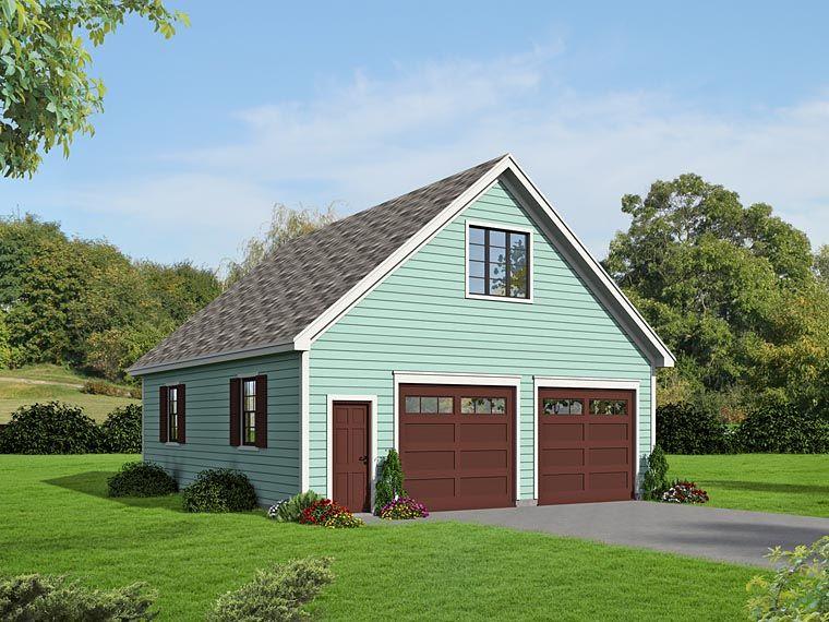 2 Car Garage Plan Number 51469 in 2019 Garage plans with