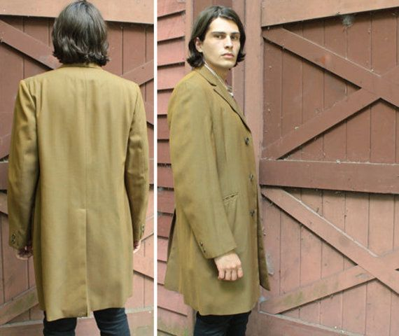 Vintage Sport Coat 44 Mens Extra long length RIDING JACKET Autumn ...