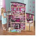 KidKraft Sparkle Mansion Barbie Doll House With Lots Of furniture Large House - http://dolls.goshoppins.com/dollhouse-miniatures/kidkraft-sparkle-mansion-barbie-doll-house-with-lots-of-furniture-large-house/