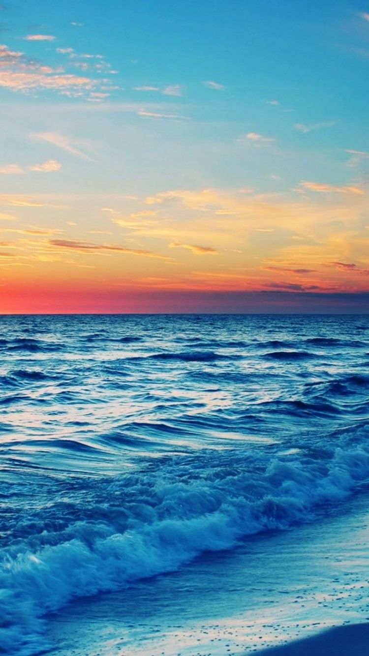 Stunning Ocean Sunset Iphone 6 Wallpaper 35977 Beach Iphone 6 Wallpapers Ocean Sunset Pretty Wallpapers Summer Wallpaper