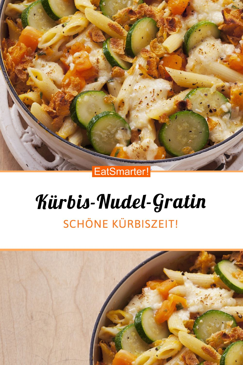 Photo of Pumpkin and pasta gratin with zucchini