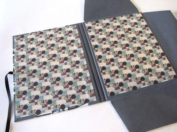 Art Deco Portfolio Case for 85 x 11 Paper by MozelleMetana on Etsy, $75.00