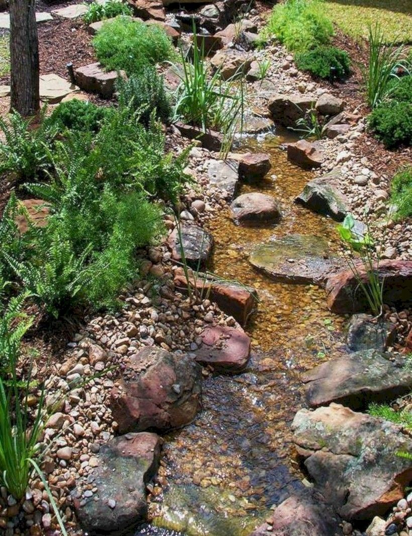 Gorgeous backyard pond designs ideas 34 | Water features ...