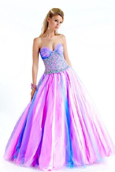 Purple Cinderella Prom Dresses