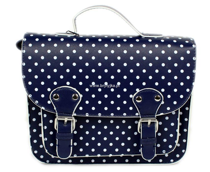 5eb350b0a8358 TOREBKA LISTONOSZKA ATMOSPHERE NAVY GROCHY | All About Handbags ...
