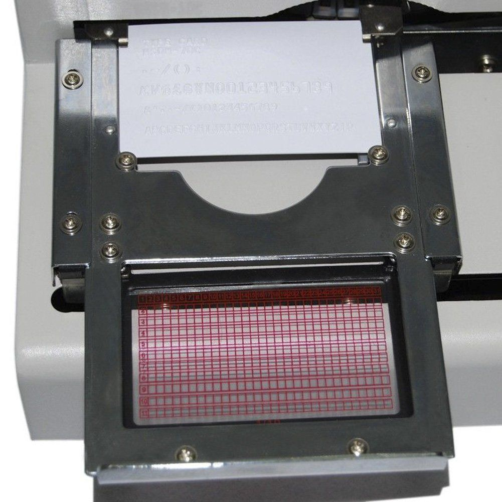 Eyourlife new pvc credit card embossing indenting machine