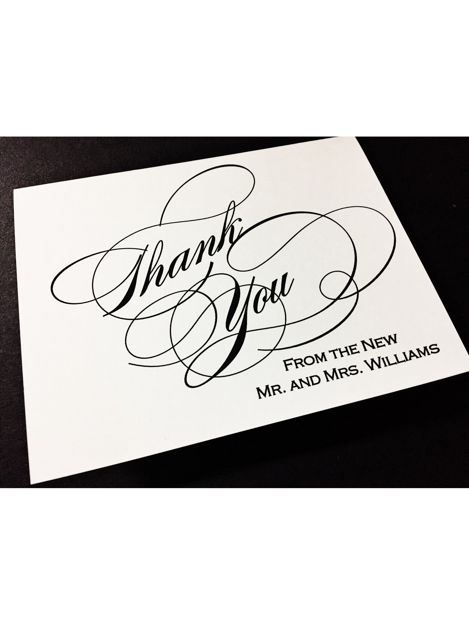 Wedding Bridal Shower Thank You Cards, Thank You From the