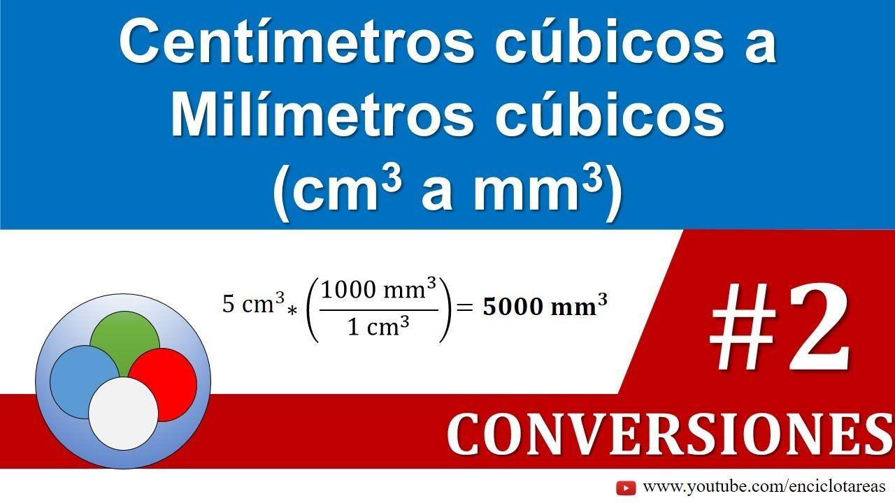 Centímetros Cúbicos A Milimetros Cúbicos Cm3 A Mm3 Parte 2 Youtube Conversion De Unidades Unidades De Volumen Conversiones