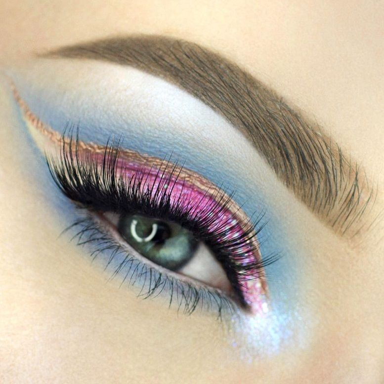 Cotton Candy Bubblegum eye makeup