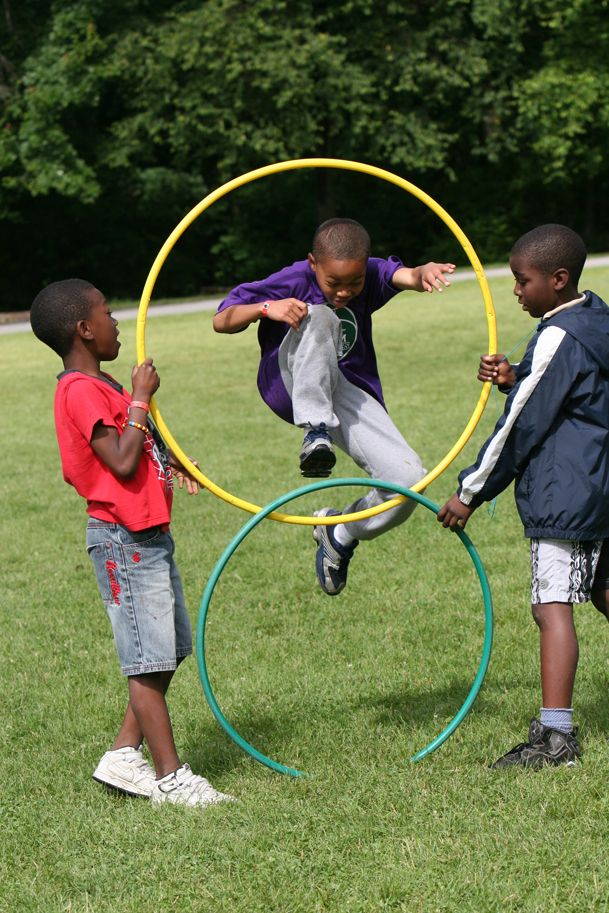 Hulahoop fun at The Fresh Air Fund's camps. summer camp