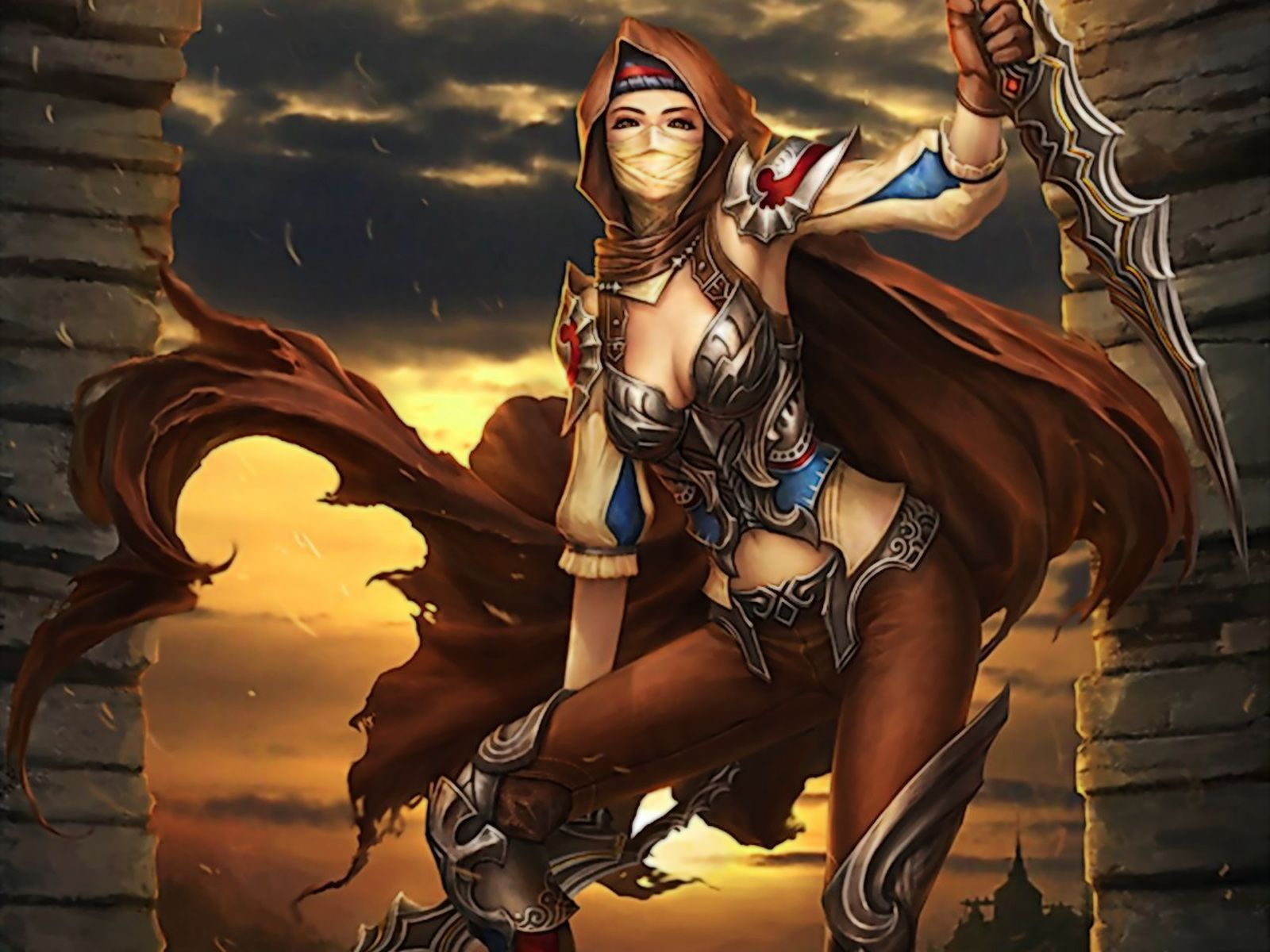 Sexy warrior young