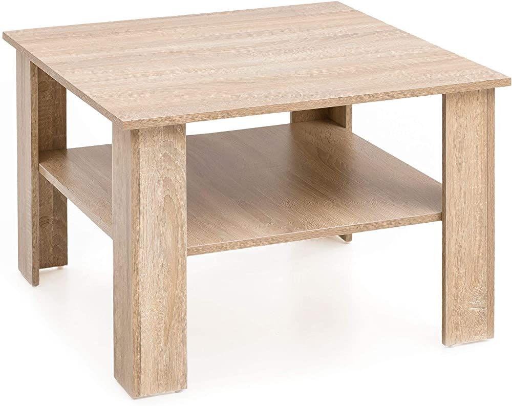 Finebuy Couchtisch Fb14547 Sonoma Eiche 60x42x60 Cm Design