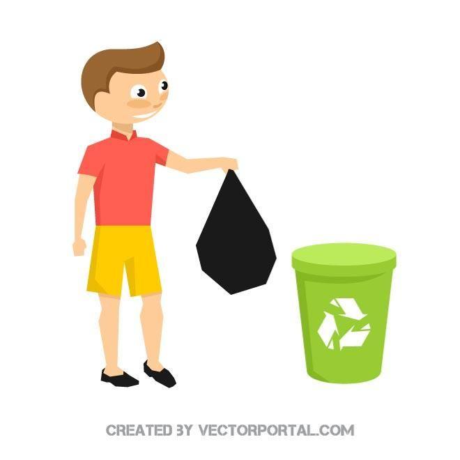 Recycling trash vector illustration | Recycling, Vector ...