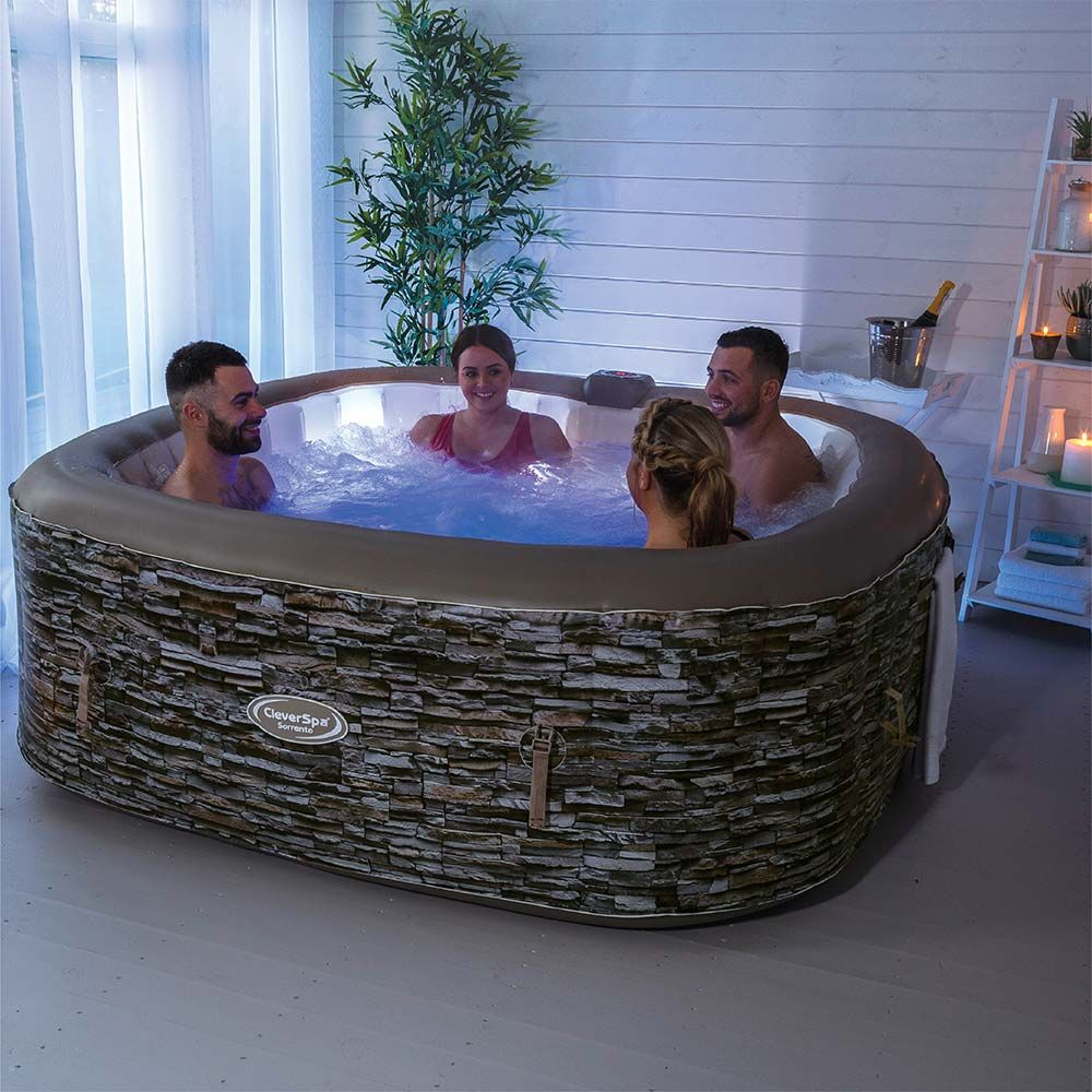 Cleverspa Sorrento 6 Person Inflatable Hot Tub With Lights