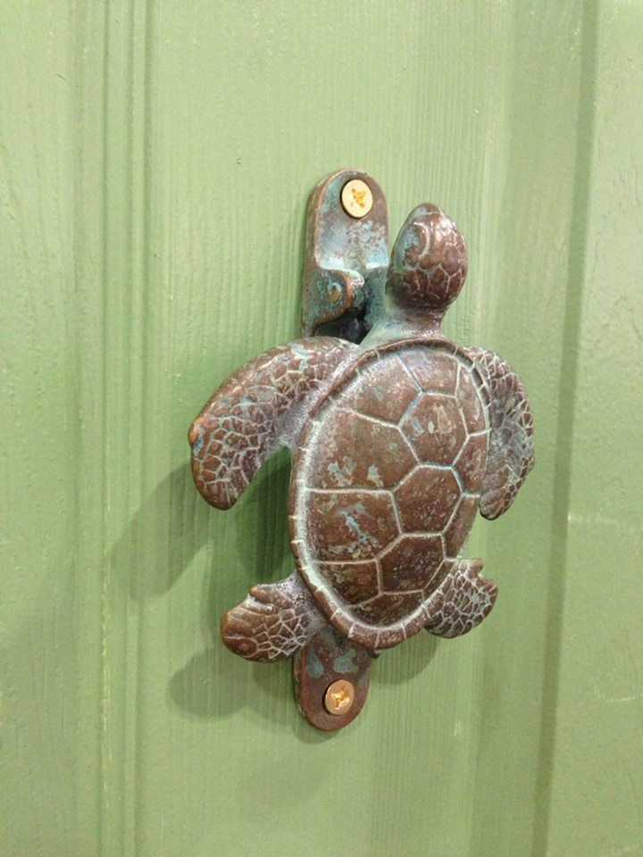 Turtle Door Knocker By Mato Designs Unique Doors Tropical Decor