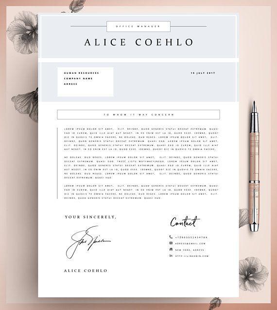 CV, Resume Template Word, 1 Page Resume Template, Modern Resume