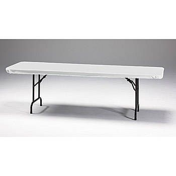 Ensure that your tablecoves stay put with the White Stay Put Tablecovers. Each Stay Put Table Cover feature elastic aroudn the edges are 30
