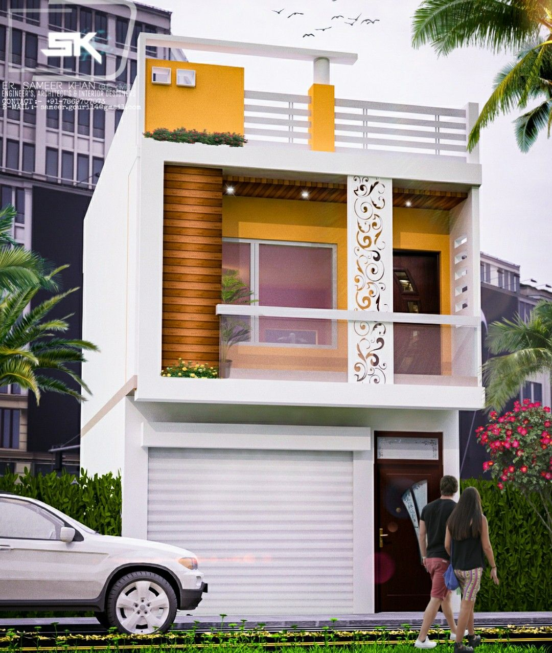 Home Design Ideas India: Introducing Modern House Exterior Elevation Of G+1 Indian