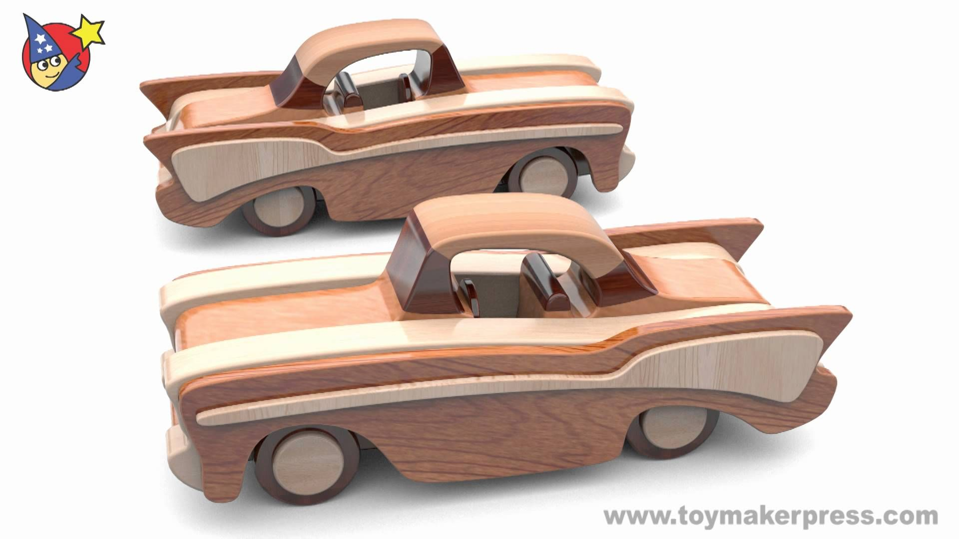 wood toy plans - classic cars - 57 chevy - youtube