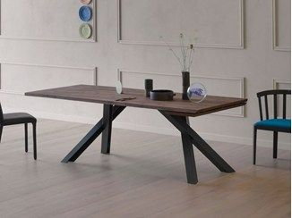 Tavolo diamond ~ Diamante tavolo allungabile prolunga interna da 60cm struttura