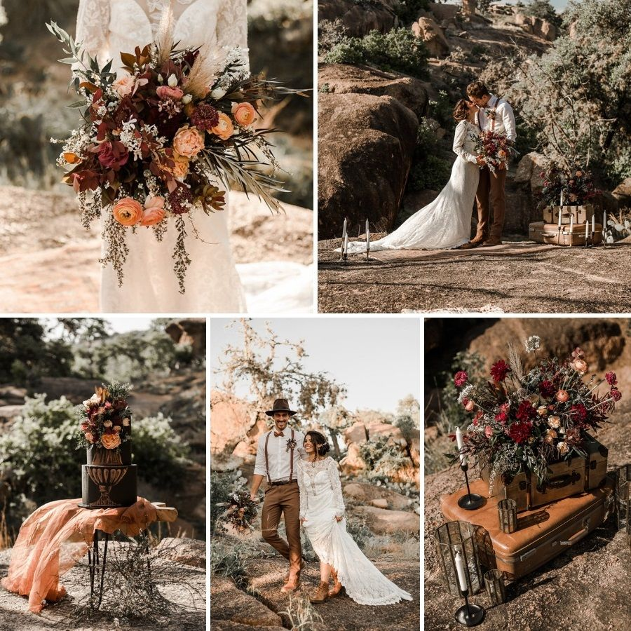 Fall Vintage Wedding Ideas: Fall Desert Elopement Inspiration