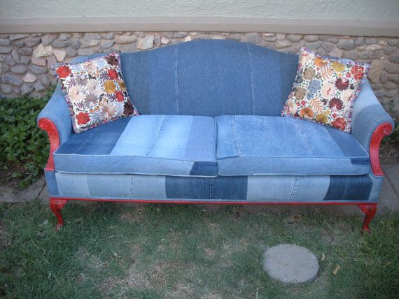 My Blu Jean Furniture Antique Roll Back Sofa   Favorite Sofa Ever... It
