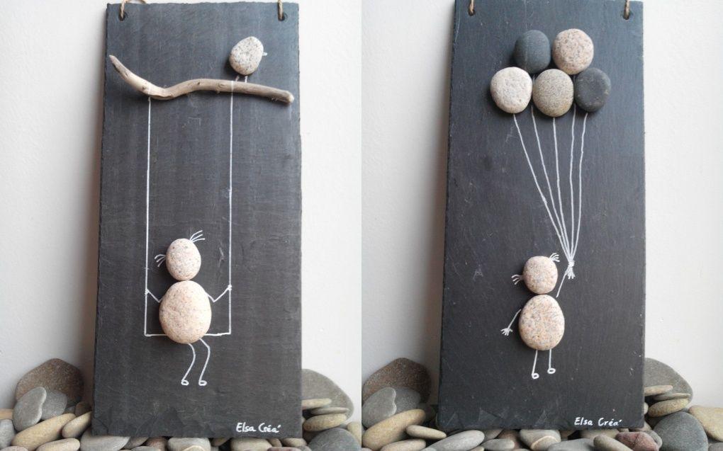 Enfants, ardoise et galets | Loisirs créatifs | Bricolage ...
