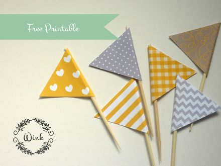 free printable flags from Wink