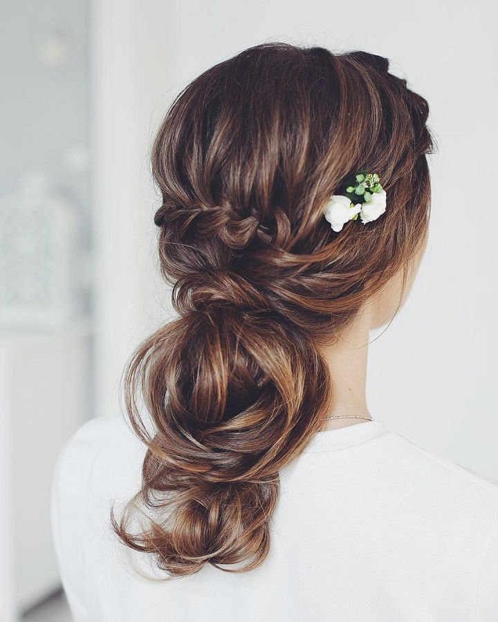 Pretty Braided Wedding Hairstyle to Inspire You #weddinghair #bridalupdo #bridalhair #wedding #weddingupdos
