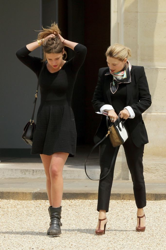 Lea Seydoux And Adele Exarchopoulos At Elysee Palace With Images