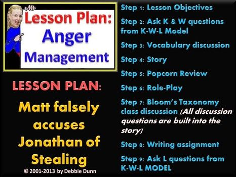 Anti-bullying lesson plan about Matt falsely accusing Jonathan of - lesson plan objectives