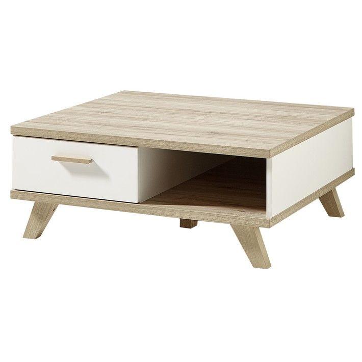 cette table basse carrée au style scandinave pourra trouver sa