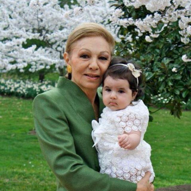 Empress Farah and Little Iryana