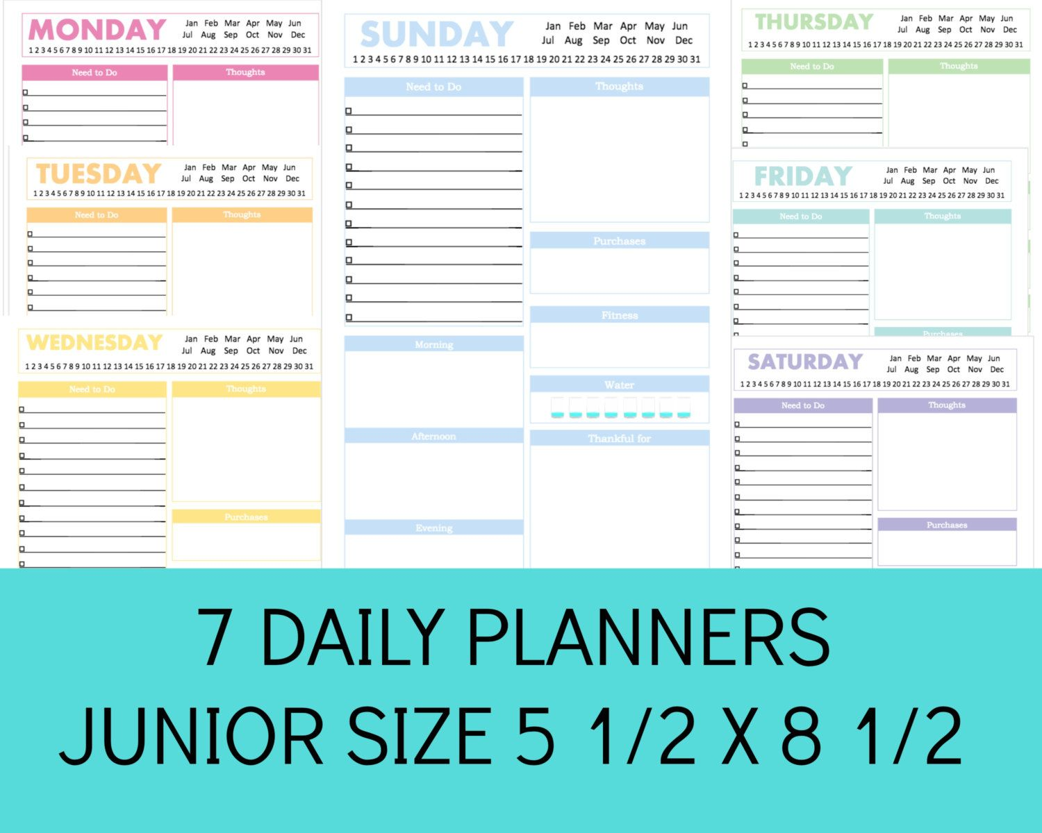 New To Commandcenter On Etsy Half Size Planner Printables Half Size Planner Pages 5 5 X 8 5