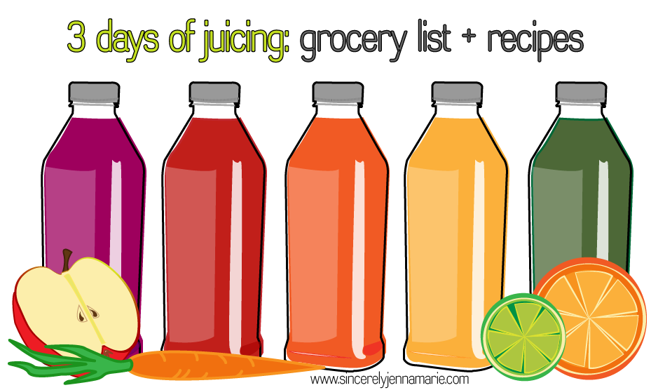 3 day juice cleanse grocery list and recipes entrees 3 day juice cleanse grocery list and recipes malvernweather Choice Image