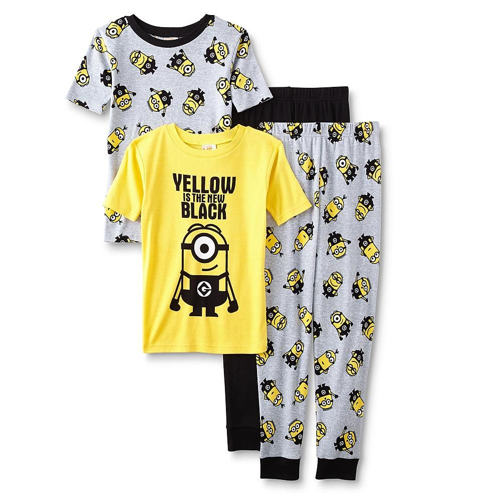 ccac9cd69190 Despicable Me Minions Boys  2 Pajama Tops   Pants - Kmart
