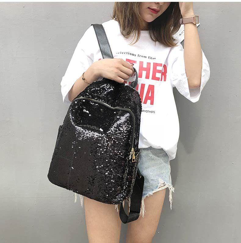 Photo of 882.95руб. 54% СКИДКА Блестящий женский рюкзак с блестками, большая вместительность, Mochila Feminina, 2019 кожаный рюкзак для девочек, дорожные школьные сумки XA113H-in Рюкзаки from Багаж и сумки on AliExpress