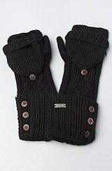 Coal The Lena Arm Warmer in Black