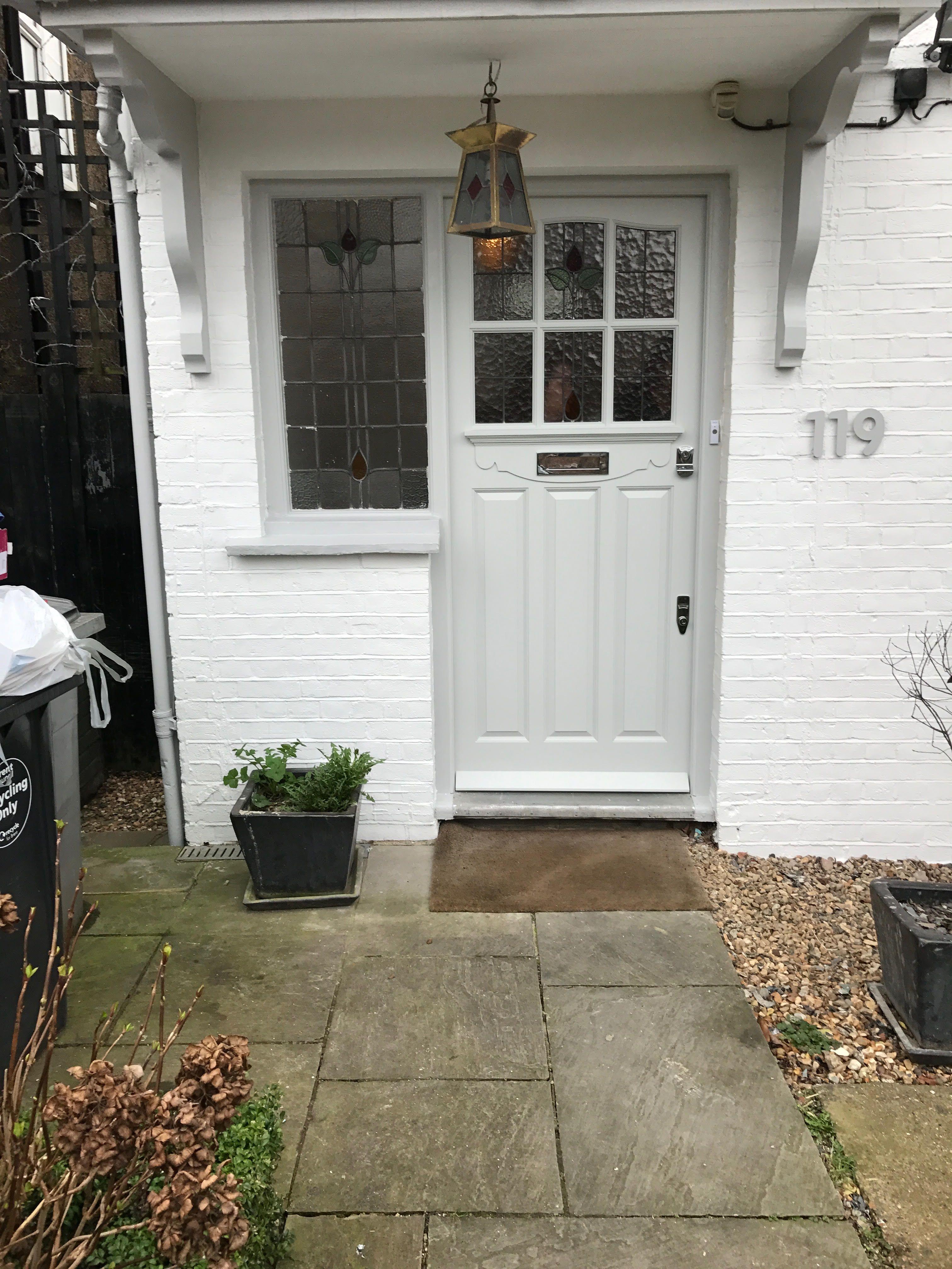 Lovely light gray Edwardian front door in north London   London ...