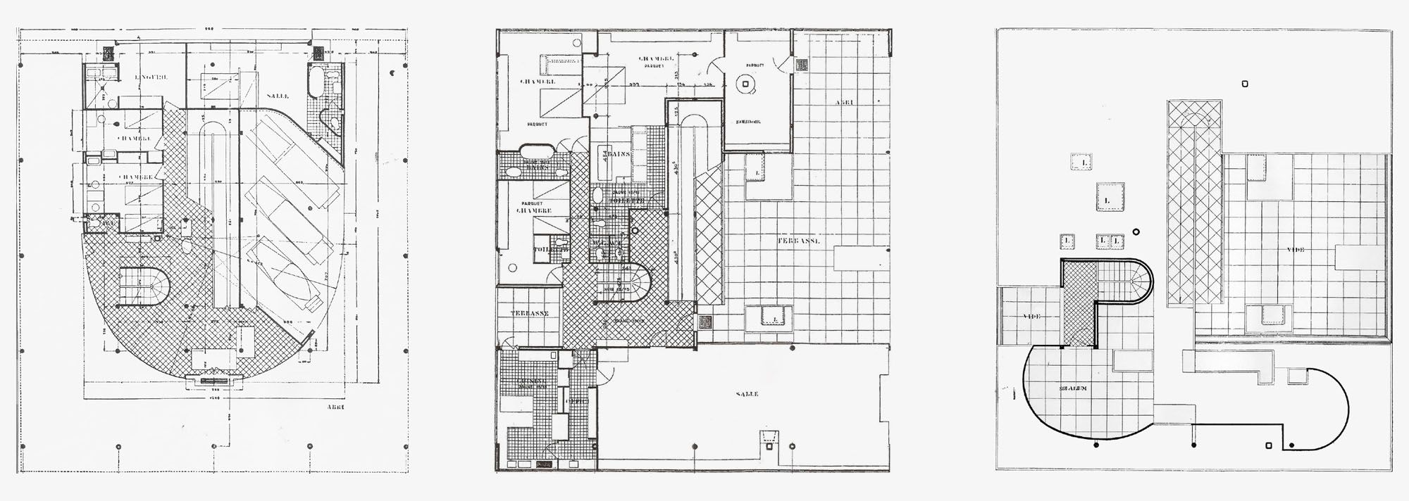 Villa Savoye Corbusier Poissy Floorplans Floor Plans